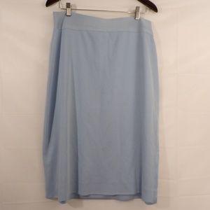Misook Baby Blue Slit Skirt Sz 12
